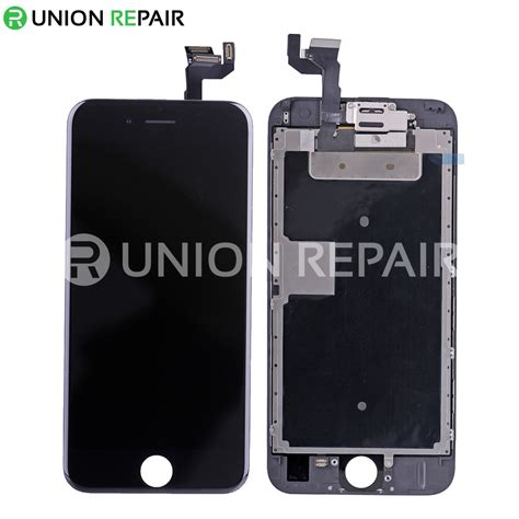 replacement for iphone 6s lcd screen assembly without home button black