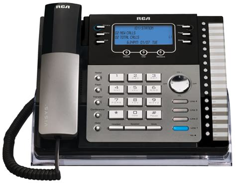 4 phone system rca 25423re1 visys 4 line expandable system phone with intercom electronics