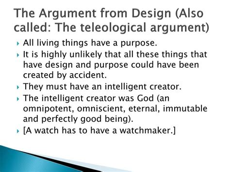 design premise meaning ppt quinn the meaning of life according to christianity