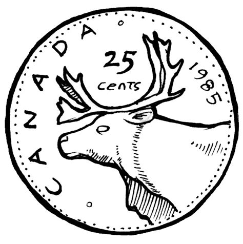 Drawing Quarter by Canadian Quarter Clipart Clipartxtras