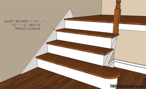 Stair Treads For Carpeted Steps by Scribing Skirt Boards Thisiscarpentry
