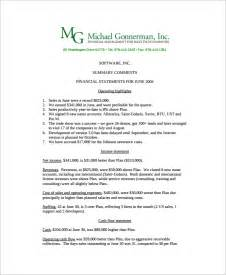 Non Profit Monthly Financial Report Template monthly financial report format in excel 21 monthly