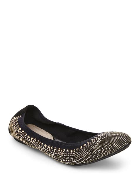 hush puppies ballet flats hush puppies gold black chaste ballet flats in metallic lyst