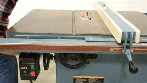 jet 10 table saw jet jtas 10 1 10 quot table saw how not to cut wood on table