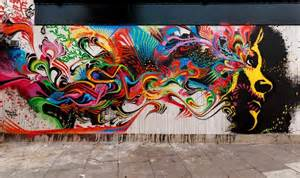 Fish Wall Mural stinkfish takes his street art to london to create this