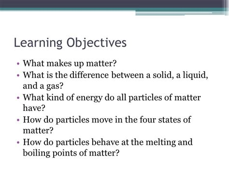 what makes up matter states of matter kinetic molecular theory ppt