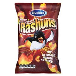 bluebird rashuns chips from new zealand