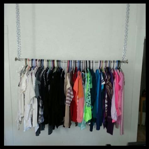 diy hanging clothes rack store interior ideas