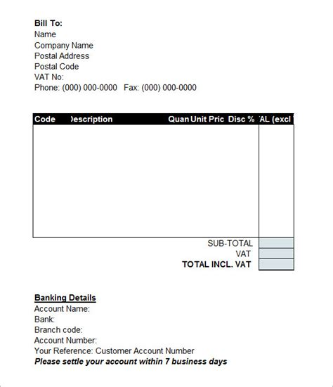 free proforma invoice template 7 proforma invoice templates free documents in