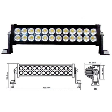 16 Inch Led Light Bar 16 Inch 72w Led Work Light Bar Offroad Dc12 24v For Atv Boat Jeep 4x4