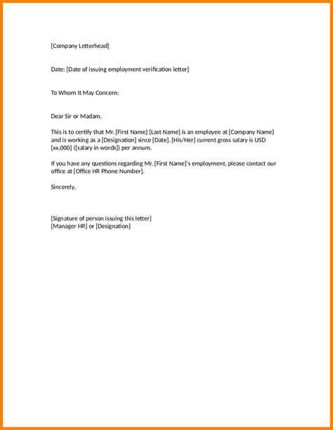 Employee Letter Of Concern Sle 8 Employment Certificate To Whom It May Concern Mail Clerked