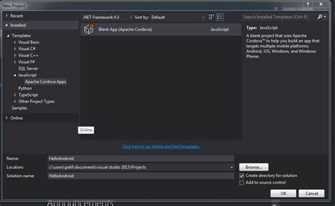 android templates for visual studio 2013 asp net create android application using visual studio
