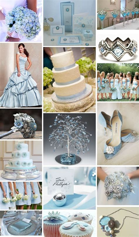 baby blue and silver theme wedding