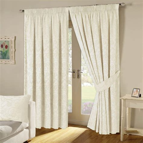 jacquard curtains cream turin woven jacquard lined pencil pleat curtains cream