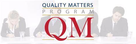 quality matters certification carta news