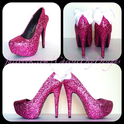 high heels sparkly glitter high heels pink pumps sparkly platform shoes
