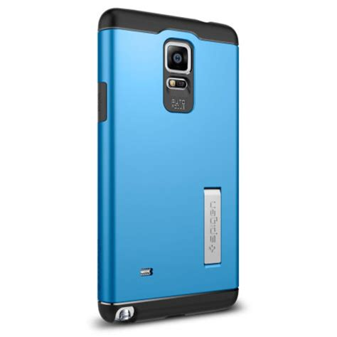 Spigen Slim Armor Samsung Galaxy Note 4 Hardcase 1 spigen slim armor samsung galaxy note 4 tough electric blue