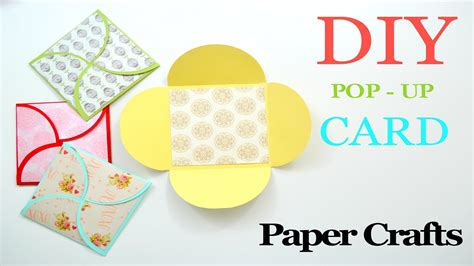 Diy Crafts With Scrapbook Paper - diy crafts how to make a greeting paper card diy