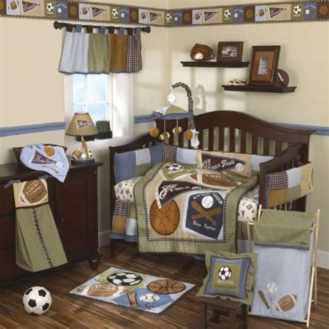 sports baby bedding cocalo sports fan baby bedding and decor baby bedding