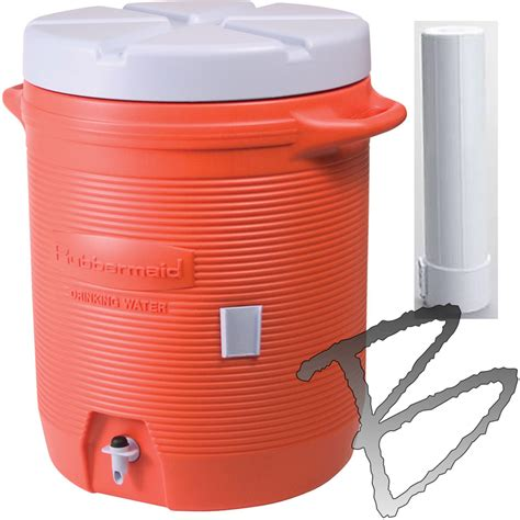 Water Dispenser With Cooler rubbermaid 5 gallon water cooler with dispenser orange