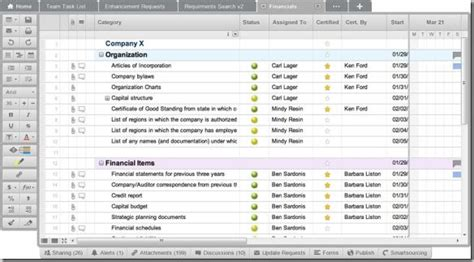 smartsheet spreadsheet like online collaboration tool for