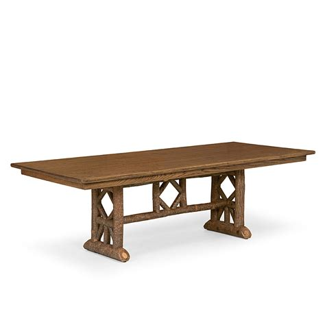 Rustic Trestle Dining Room Tables Rustic Trestle Dining Table La Lune Collection