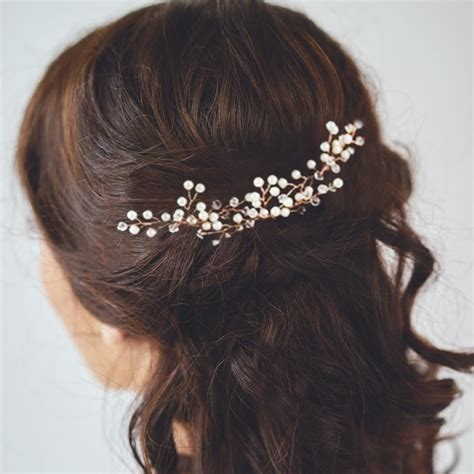 3X Gypsophila Pearls Hair Pins Sticks Accessories Wedding
