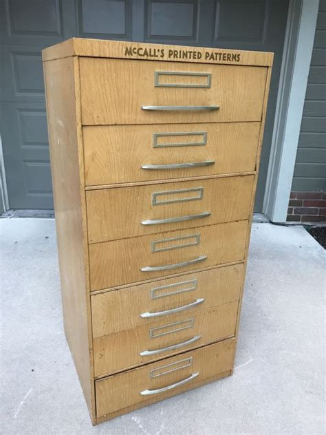 vintage mccalls pattern cabinet vintage sewing cabinet shop collectibles online daily