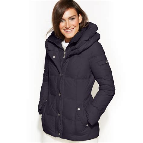 Pillow Collar Coats by Dkny Pillow Collar Puffer Coat In Blue Midnight Lyst