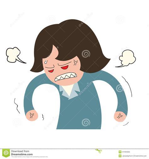 angry business stock vector image of employee 41404505