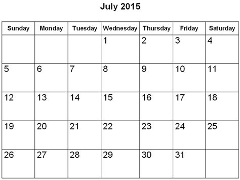 template of july 2015 page printable calendar 187 calendar template 2018
