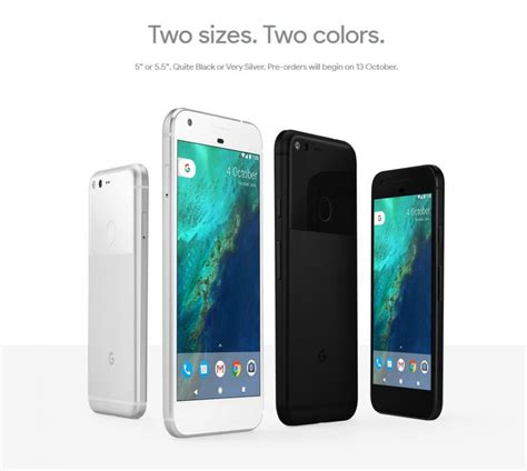 goggle mobile pixel and pixel xl phone specifications