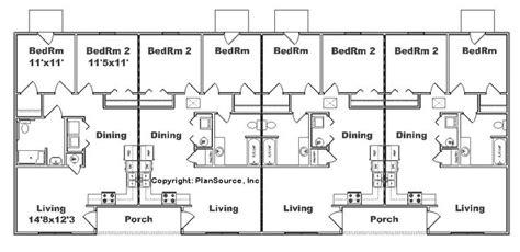 multi unit apartment floor plans apartment plan j2878 4 b multi unit plans pinterest
