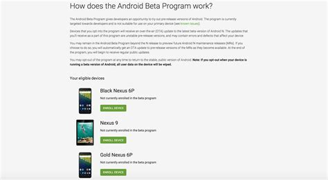 android beta program android beta program is now live
