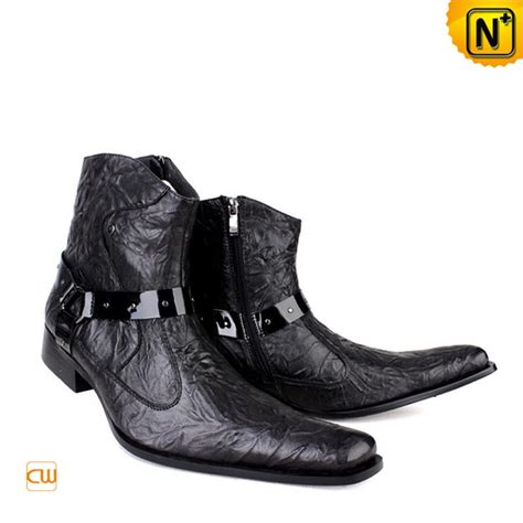 mens designer black boots mens designer dress boots black cw701103 our cool cowboy