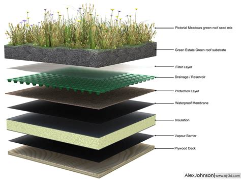 green roof wall section alex johnson gallery green roof diagram