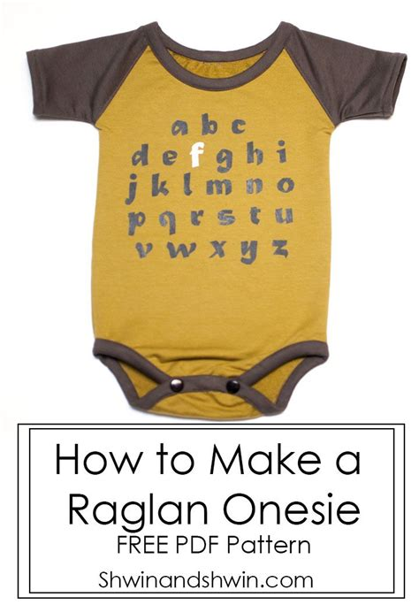 shirt onesie pattern how to make a raglan onesie free pattern modern baby