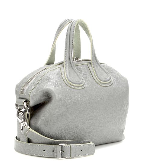 New Of Givenchy Nightangle Smalll givenchy nightingale small leather tote in gray lyst