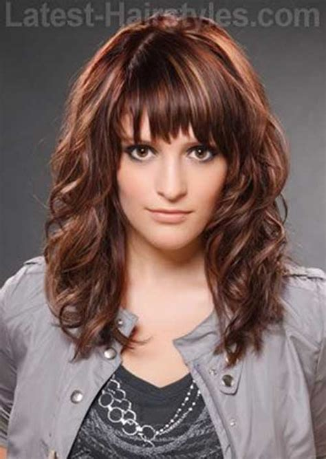 pictures of layered curly hairstyles with bangs 30 best curly hair with bangs hairstyles haircuts 2016
