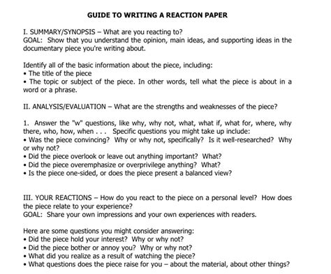 How To Start A Reaction Paper About A how to write a reaction paper what is a reaction paper