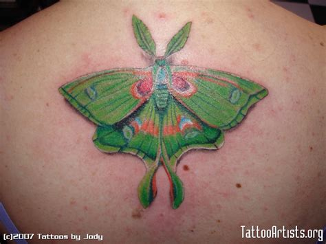 green tattoo ink moth images designs
