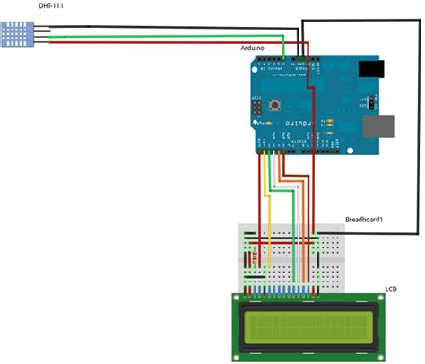arduino code for dht11 code for lcd dht11