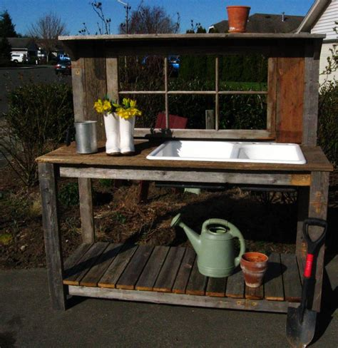diy potting bench with sink potting bench with sink diy woodworking projects plans