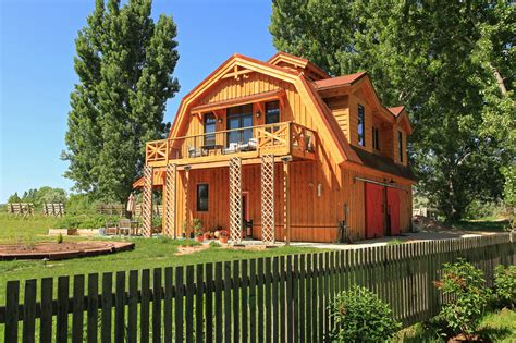 elegant barn homes with covered porch and upper deck 2