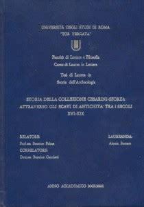 unibas lettere e filosofia buttaro a storia della collezione cesarini sforza
