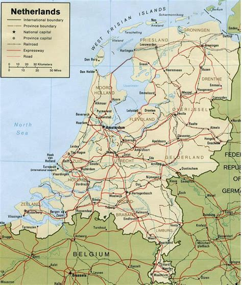 netherlands hostels map map of the netherlands