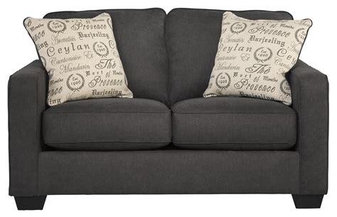 alenya sofa and loveseat signature design by ashley alenya charcoal contemporary