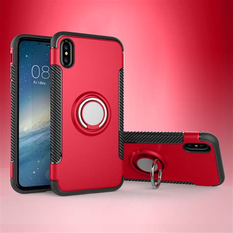 For Iphone 6 6s With Stand Ring Soft Berkualitas for iphone 7 8 plus x 6s hybrid magnetic soft tpu ring