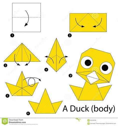 How To Make A Paper Duck Step By Step - how to make duck origami bearsvsgiants f271a39f5883