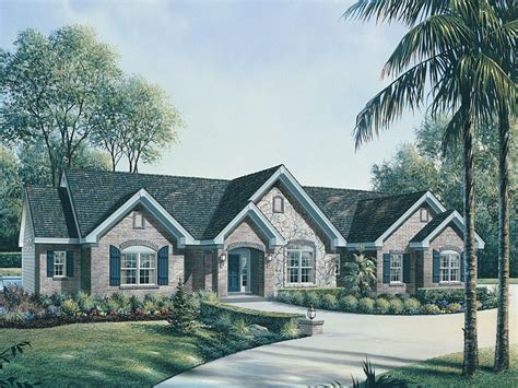 house plans country one story le chateau one story home plan 007d 0117 house plans and